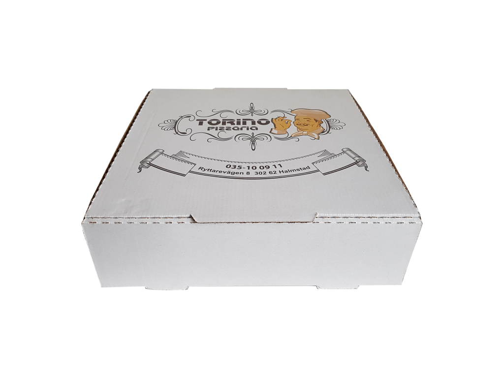 beyaz pizza kutusu