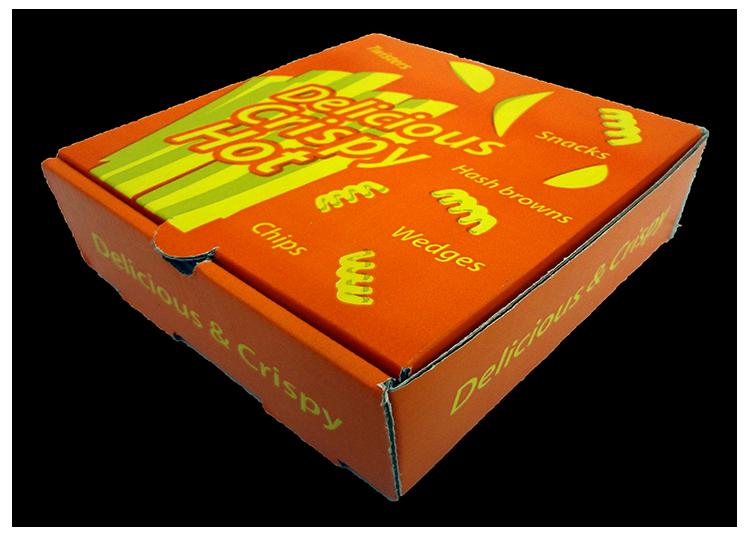 kapaklı kızarmış patates kutusu