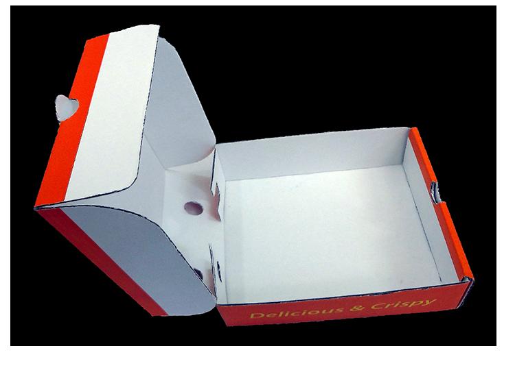 kapaklı kızartılmış patates kutusu