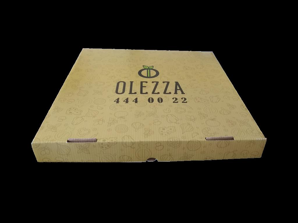 ofset baskılı pizza kutusu