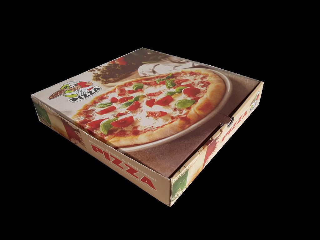 pizza baskılı kutu