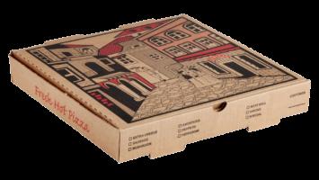 Baskılı Kraft Pizza Kutusu